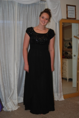 BBR black chiffon with sparkle top