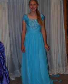 BBR aqua tulle jeweled bodice