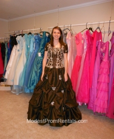 Brown ballgown