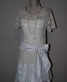 White lace flapper