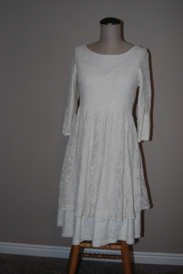 7 white lace dress after